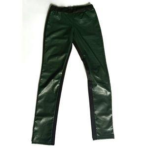 Zara TRF Faux leather neoprene leggings Sz. Sm